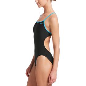 Nike Swim Solid Cross Back - Bañador Mujer - negro